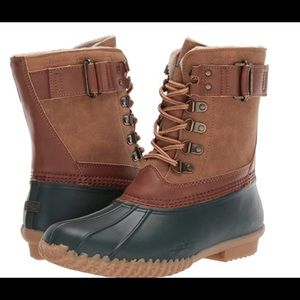 JBU Boots Hunter/ whiskey Duck boots Size 7